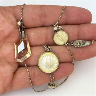 ALEX and ANI Sterling silver pendants necklace