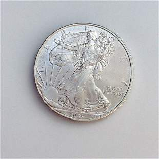 2009 US silver Eagle Liberty One dollar bullion coin