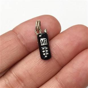 Sterling silver enamel Cell Phone charm pendant