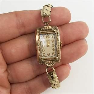 ELGIN Vintage 1/20 10KT Gold filled top stretch watch