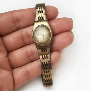 CLINTON Vintage gold tone ladies wrist watch