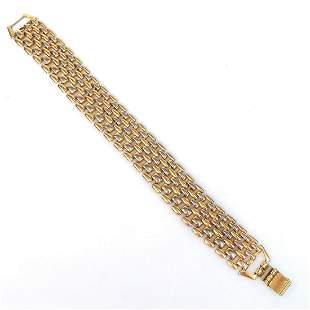 Vintage gold tone panther link bracelet