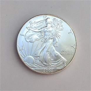 2002 US silver Eagle Liberty One dollar bullion coin