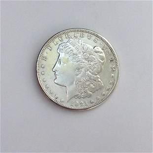 US 1921-S MORGAN silver one $1 dollar coin