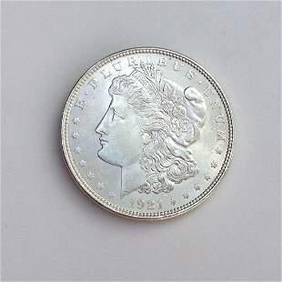US 1921-P MORGAN silver one $1 dollar coin