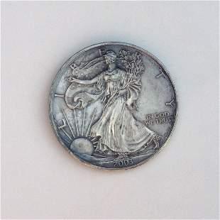 2003 US silver Eagle Liberty One dollar bullion coin