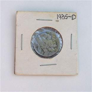 1935-D US Indian Head 5 cent coin