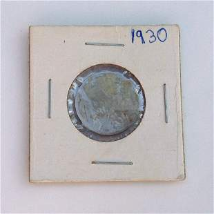 1930 US Indian Head 5 cent coin
