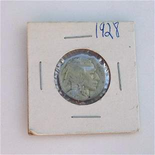 1928 US Indian Head 5 cent coin