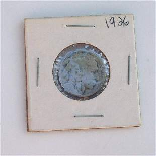 1926 US Indian Head 5 cent coin
