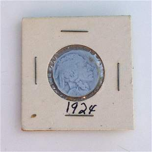 1924 US Indian Head 5 cent coin