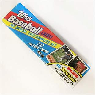 TOPPS Official 1992 complete set Baseball Cards