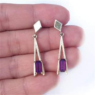 AVON Vintage gold tone dangling push back earrings