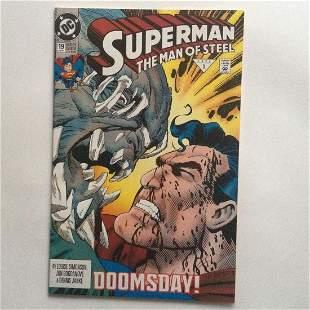 SUPERMAN THE MAN OF STEEL #19 1 1992 comic book DC