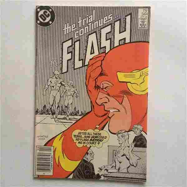 FLASH #344 1985 comic book DC