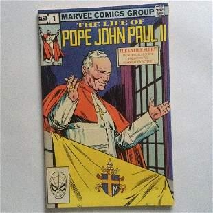 THE LIFE OF POPE JOHN PAUL II #1 1982 comic Marvel