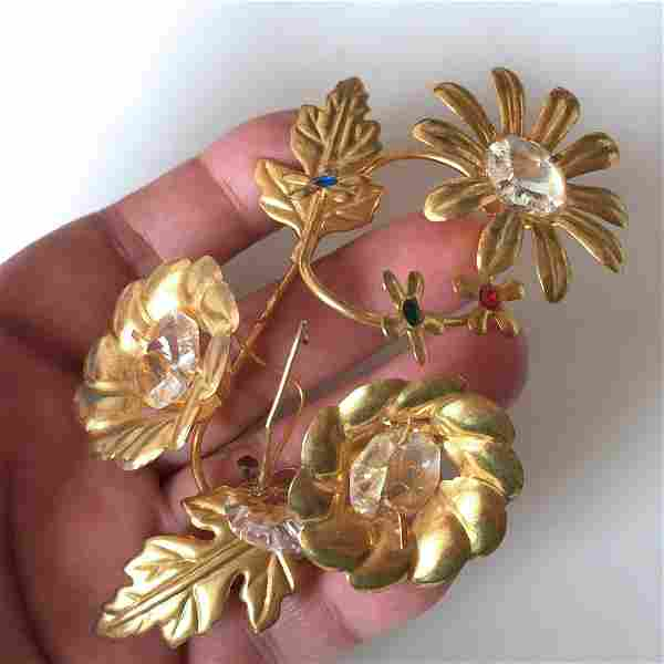 Vintage gold tone Ear Wrap Cuff over the ear jewelry