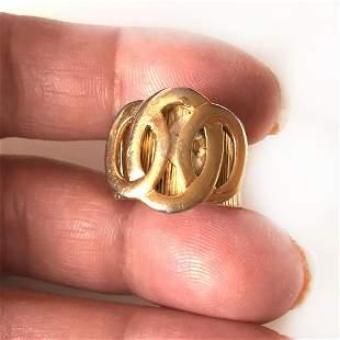 SARAH COV Vintage gold tone adjustable ring, signed