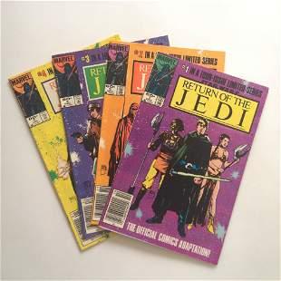 STAR WARS Return Of the Jedi #1,2,3,4 1982 comic Marvel