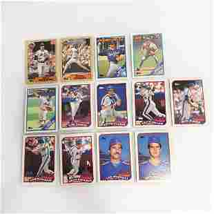 13 TOPPS 1987-1989 Mets baseball cards