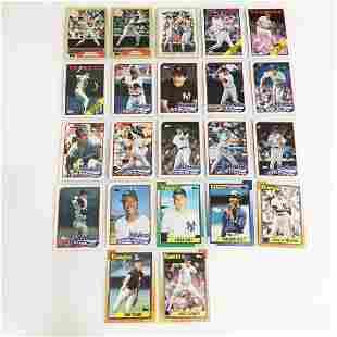 22 TOPPS 1987-1990 Yankees baseball cards