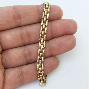 Gold tone Panther link bracelet