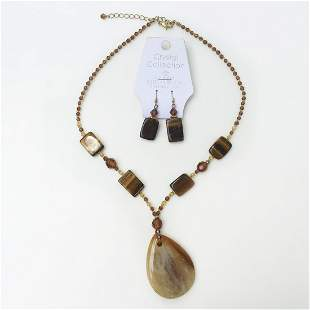 CRYSTAL COLLECTION Austrian crystal beads tiger eye set