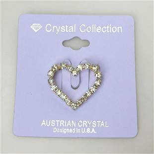 CRYSTAL COLLECTION Austrian crystal heart brooch