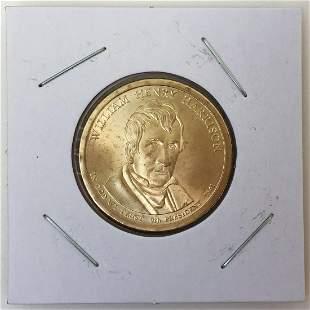 Mint US President William Harrison $1 Dollar coin