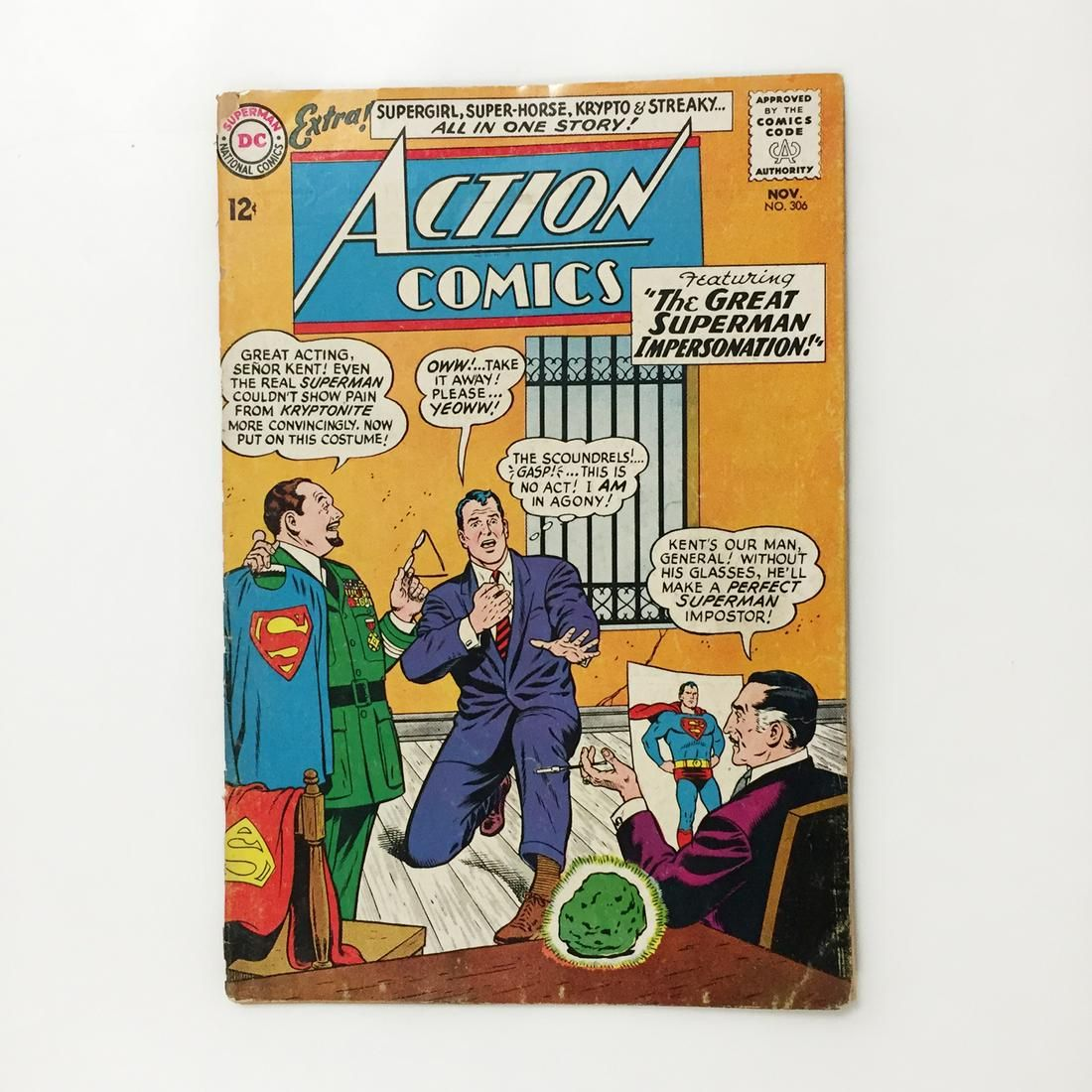 ACTION COMICS #306 1963 Superman comic book DC