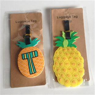 2 silicone Pineapple shape travel luggage ID tags