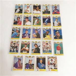 24 TOPPS 1987 Rookie baseball cards