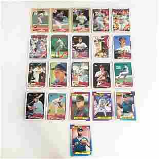 21 TOPPS 1987-1990 Boston Red Sox baseball cards