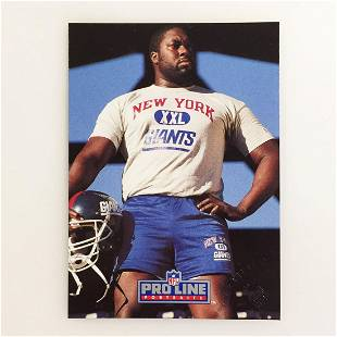 1991 WILLIAM ROBERTS Giants Football card signed