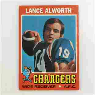TOPPS 1971 LANCE ALWORTH Chargers Football card