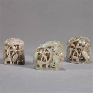 A Set of Three Pieces of Jade Decorations