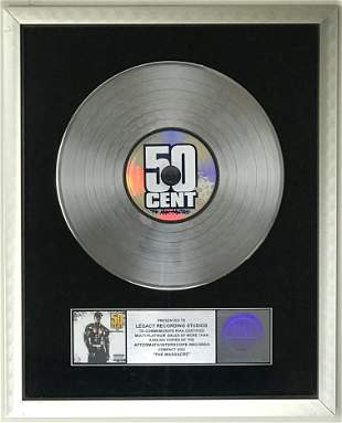 50 Cent The Massacre RIAA 5x Platinum Award