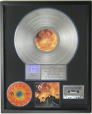 98 Degrees and Rising RIAA 4x Multi-Platinum Album