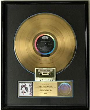 Ashford & Simpson Solid RIAA Gold LP Award
