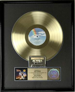 Back To The Future soundtrack RIAA Gold LP Award