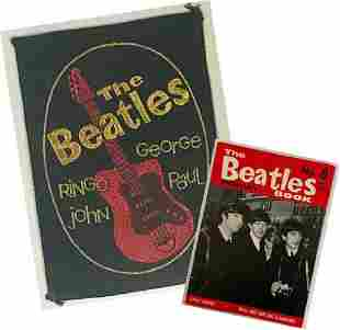 Beatles Original 1964 Badge and Beatles Book