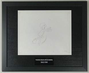 Beatles 1965-69 Cartoon - Framed Ringo Cel Drawing