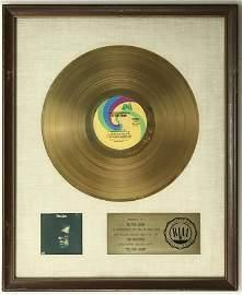 Elton John 1970 Debut LP RIAA Gold Award to Elton John