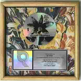 10,000 Maniacs Our Time In Eden RIAA Platinum Album