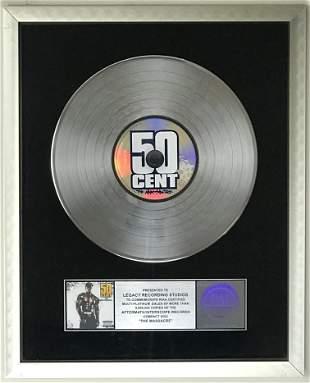 50 Cent The Massacre RIAA 5x Platinum Award