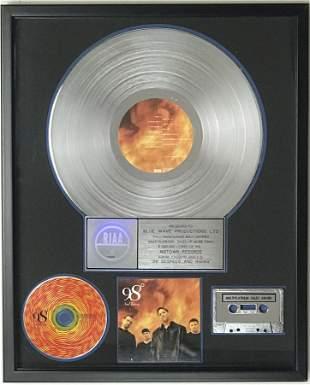98 Degrees and Rising RIAA 4x Multi-Platinum Album