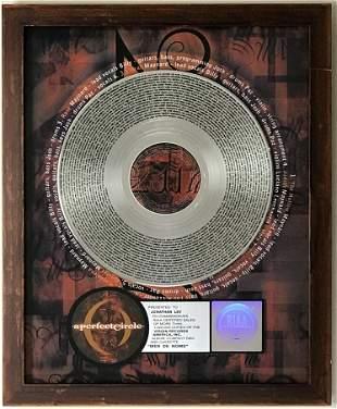 A Perfect Circle Mer de Noms RIAA Platinum Award