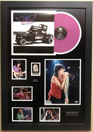 Aerosmith Collage signed by Steven Tyler w/BAS COA