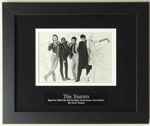 Annie Lennox, Dave Stewart +3 signed The Tourists photo