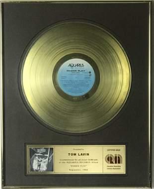 April Wine Power Play CRIA Gold Album Award